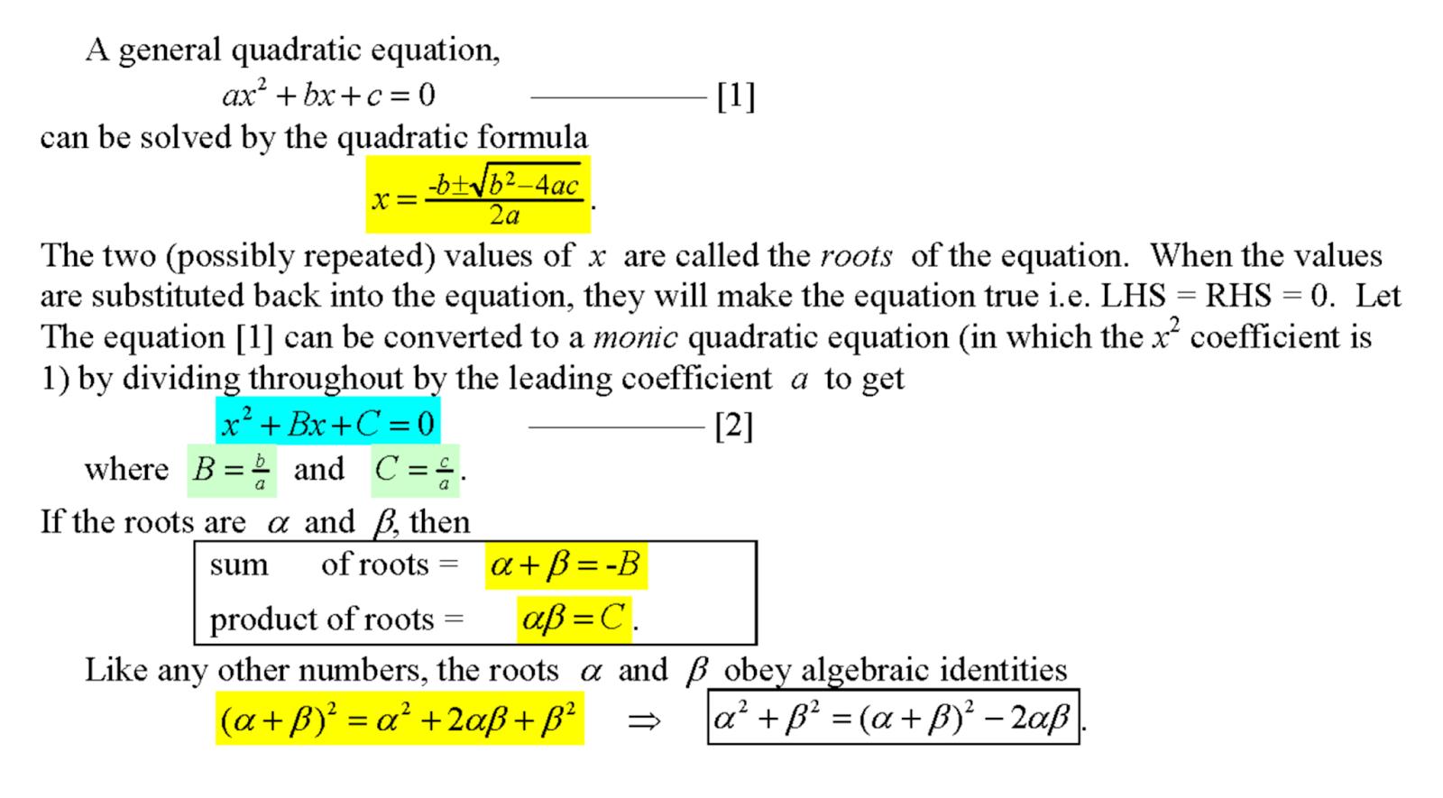 Truly Singaporean Singapore Mathematics Ibhl Sota 1b07 Quadratic Equations And Roots